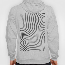 Organic Abstract 01 WHITE Hoody