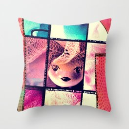 Sweet Doll Throw Pillow