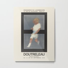 Pierre Doutreleau. Exhibition poster for Orangerie du Luxembourg in Paris, 1978. Metal Print