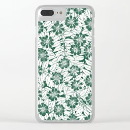 Foliage green Clear iPhone Case