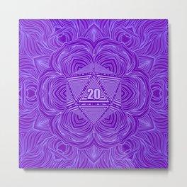 Natural 20 Mandala Tiefling Temptation Metal Print