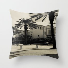 Black and White Spanish Architecture (West Palm Beach) Throw Pillow