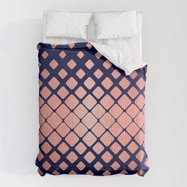 Rose Gold Geometric on Indigo Comforters