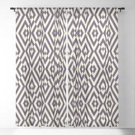 Diamond Shaped Tiles Geometric Seamless Pattern Sheer Curtain