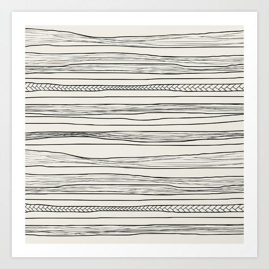 stripes n0 Art Print