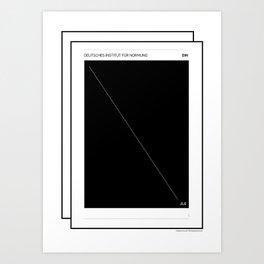 DIN Rules .  Art Print
