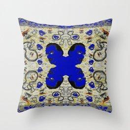 Dali Blue Mood Throw Pillow