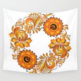 Flowers russian folk Wall Tapestry