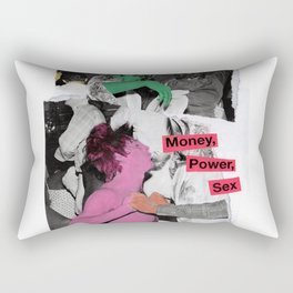 Money, Power, Sex Rectangular Pillow