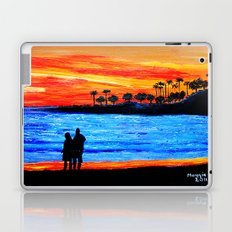 Sunset silhouette Laptop & iPad Skin