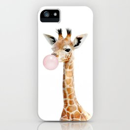 Bubble Gum Baby Giraffe iPhone Case