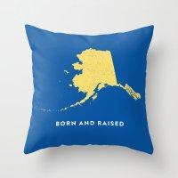 alaska Throw Pillows featuring Alaska by Hunter Ellenbarger