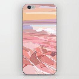Geometric pink lake and sky, Hutt Lagoon, Western Australia iPhone Skin