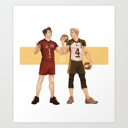 Haikyuu!! Bokuto and Kuroo Art Print
