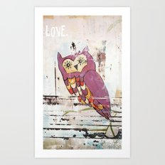 Owl LOVE. Art Print