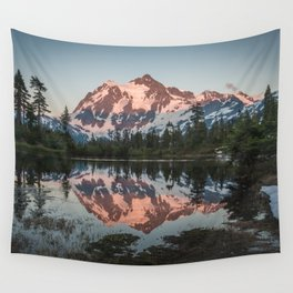 Cascade Sunset - Mt. Shuksan - Nature Photography Wall Tapestry