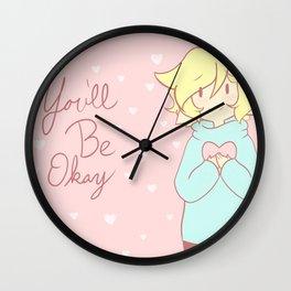 You'll Be Okay Hearts Wall Clock