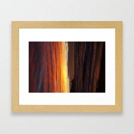 When the sky turns Framed Art Print