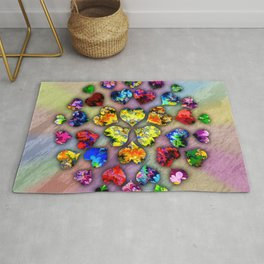 heart beat II Rug