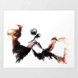 Panda Passion Art Print