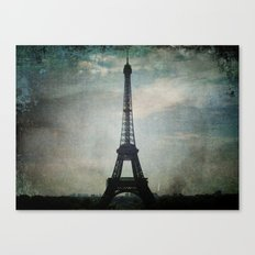 Eiffel Tower in the Storm Canvas Print