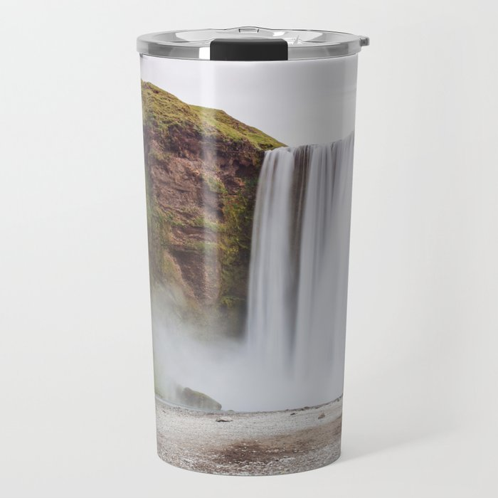 Skogafoss waterfall Travel Mug