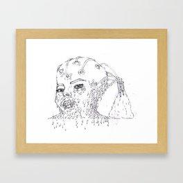 melting head Framed Art Print