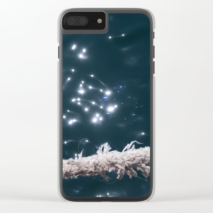 Liquid sapphire (and the old rope) Clear iPhone Case