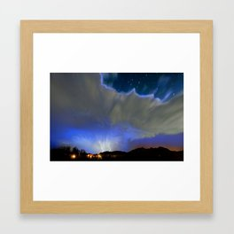 On the Wings of the Night Framed Art Print