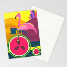 Flamingos Day Out Stationery Cards