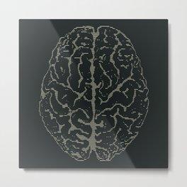 Brain Print Metal Print