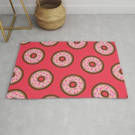 Pink Donut Pattern Rug