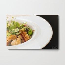 The Art of Food Bacon Sideways Metal Print