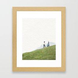 Howl and Sophie landscape  Framed Art Print