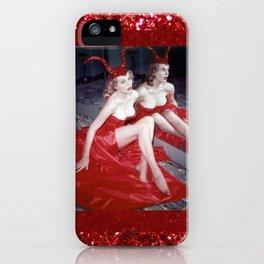 Femme Fatale - Anita Red Devil Glitter iPhone Case