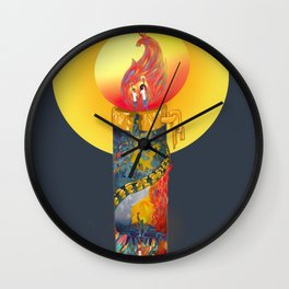 Advent: Candle of Peace Wall Clock