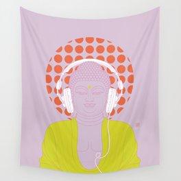 Buddha : Listen to Om! (PopArtVersion) Wall Tapestry