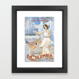 Columbia - City on the Hill Framed Art Print