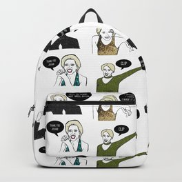 A Medley Print Backpack