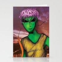 rio de janeiro Stationery Cards featuring RIO DE JANEIRO by Alien Style