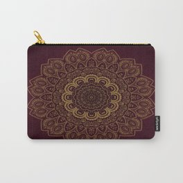 Gold Mandala on Royal Red Background Carry-All Pouch