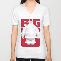 big hero 6 V-neck T-shirts featuring Baymax - Big Hero 6 by Nguyen