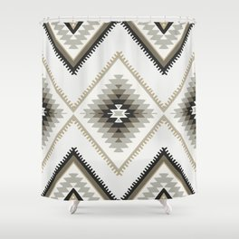 Beige Aztec Shower Curtain
