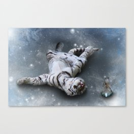 Tiger and Rabbit Canvas Print