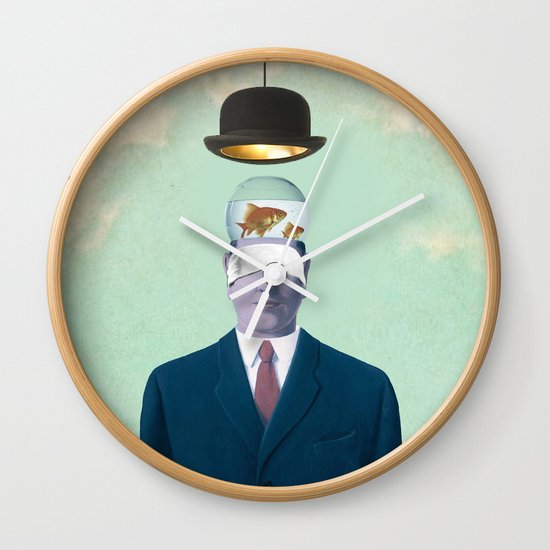 Under the Bowler Wall Clock