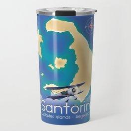 Santorini Cyclades islands Travel Map Travel Mug