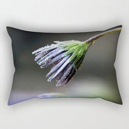 Frosty Petals Rectangular Pillow