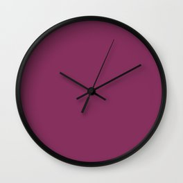 Dark Pink Purple Wine Solid Color Coordinates with Kelly Moore Accent Color KM5527 Dragons Fire Wall Clock