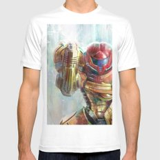 at last the galaxy is at peace  White MEDIUM Mens Fitted Tee