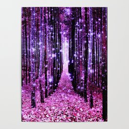 Magical Forest Pink & Purple Poster